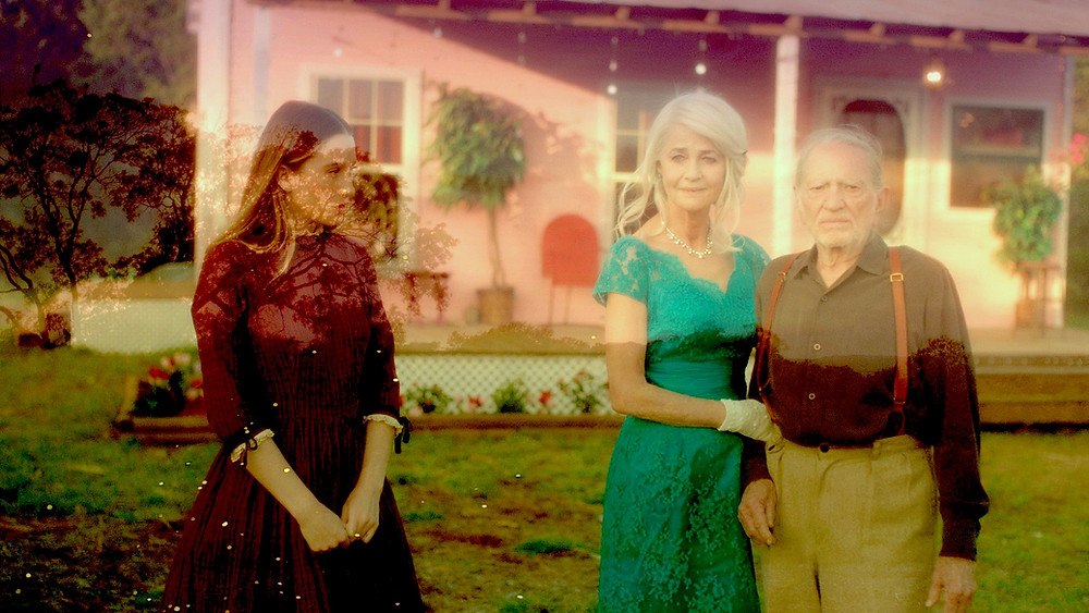 Sophie Lowe, Charlotte Rampling, and Willie Nelson in Waiting for the Miracle to Come.