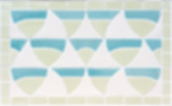 Handmade wall tiles Boats design, perfect as a bathroom splashback