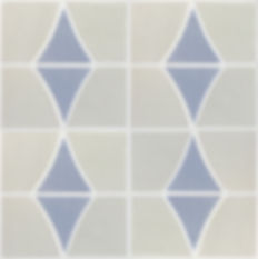Handmade wall tiles diamonds