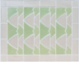 Handmade wall tiles, tessellated fish panel, perfect for a bathroom splashback