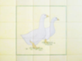 Geese on Hand Painted Tiles