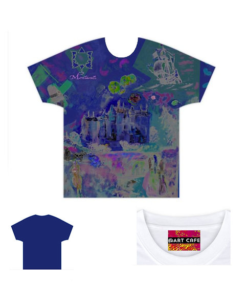 Montacute all over print T shirt
