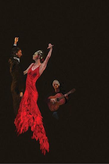 Red Dress Flamenco limited edition fine art  print