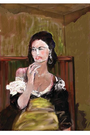 Gypsy smoking limited edition fine art print