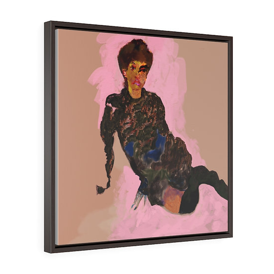 Portrait by David Winter from your own photograph. Premium Gallery Wrap Canvas