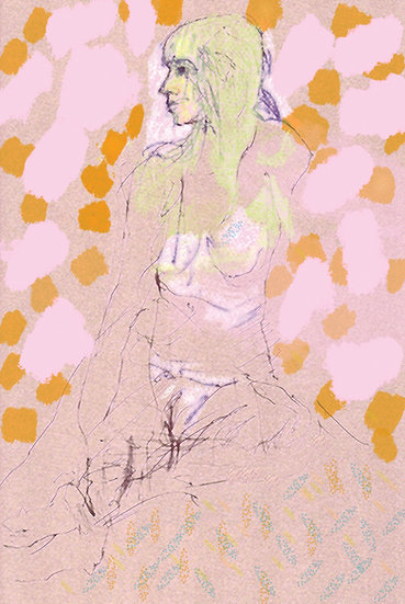 Model with Spots limited edition fine art print