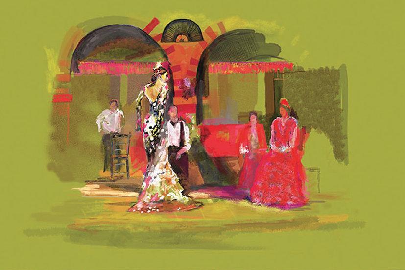 Flamenco Yellow limited edition fine art print