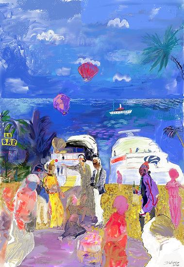 St Tropez balloon party