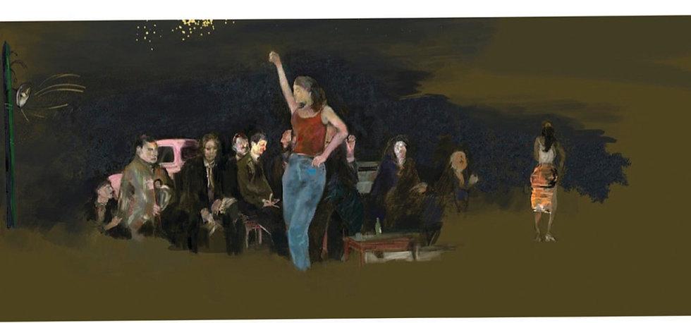 Flamenco Dancer by Night limited edition fine art print