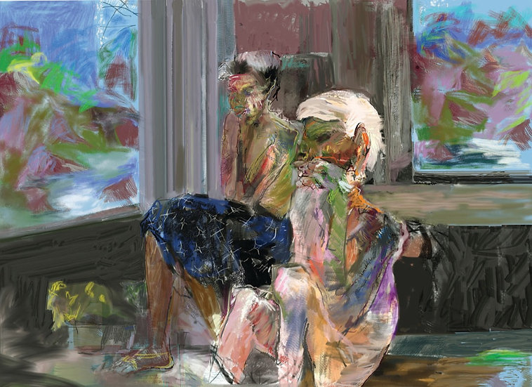 Two Old Women fine art print limited edition