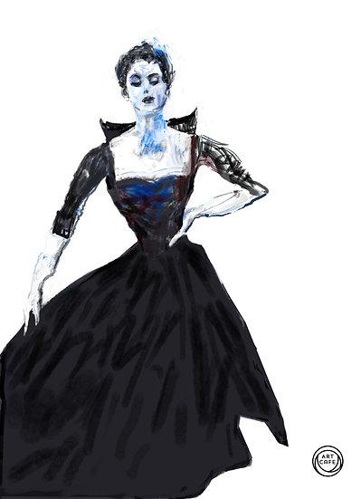 Dior gown 1952 fine art print