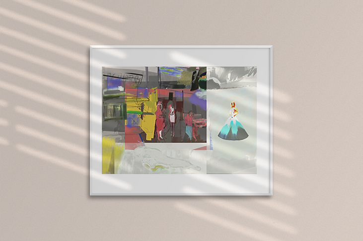 mockup-of-a-framed-poster-hanging-on-a-w