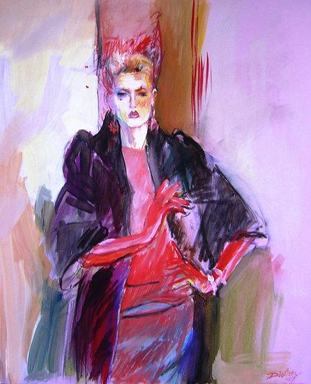 Model in Fur Coat limited edition fine art print