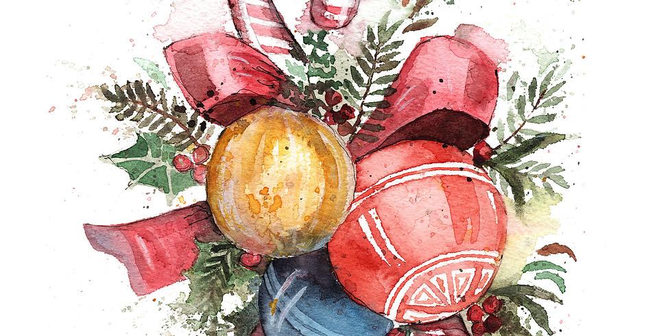 Christmas Watercolor Workshop - ONLINE
