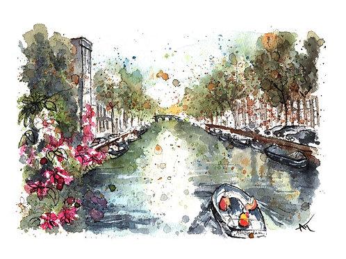 Amsterdam Canal - Original Painting