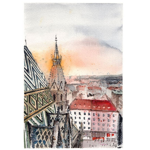 Vienna - Signed print