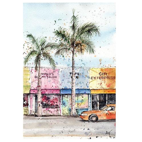 Miami - Signed print
