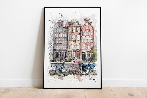 Amsterdam Houses - Art Print