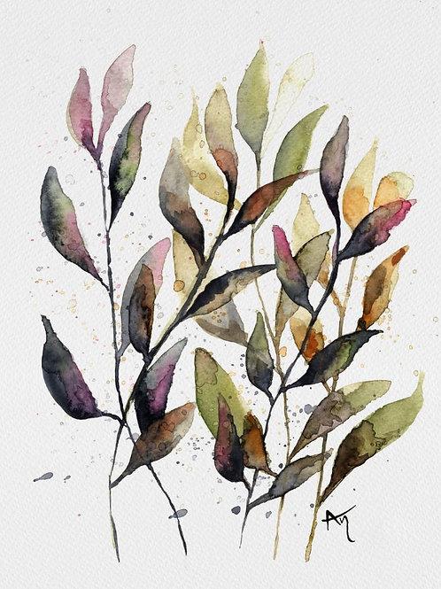 Green Leaves - Original Painting