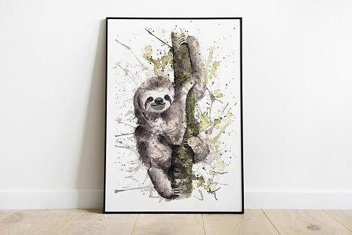 Sloth - Art Print