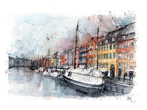 Copenhagen - Signed print