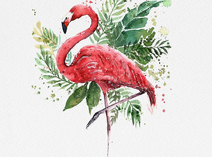 Flamingo with paper texture.jpg
