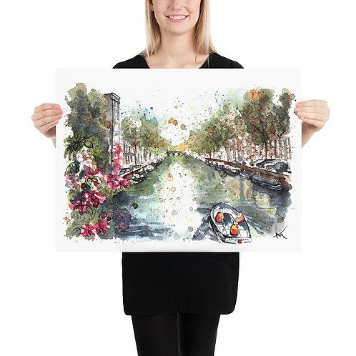 Amsterdam Canal - Art Print