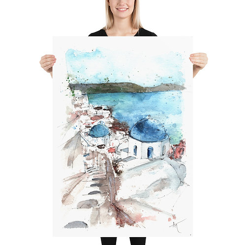 Santorini - Art Print