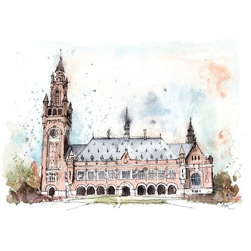 The Hague Vredespaleis - Original Painting