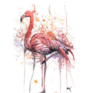 watercolor flamingo art print.JPG