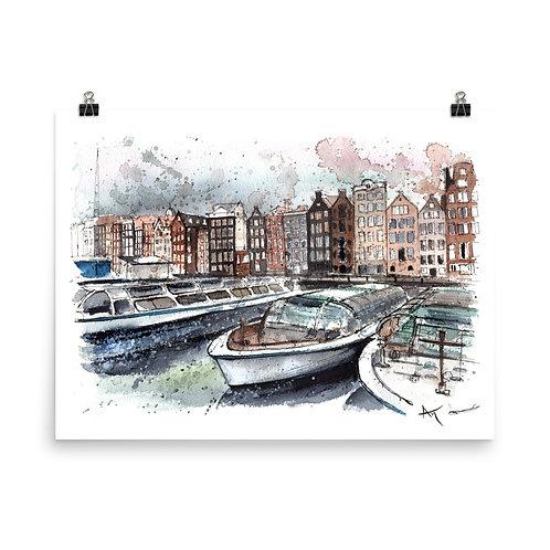 Amsterdam boats - Art Print