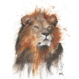 watercolor lion art print.jpg