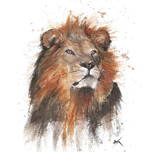 Lion - Original painting
