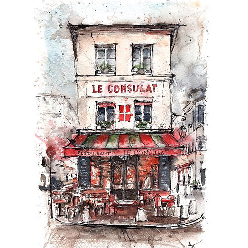 Paris, Le consulat  - Original Painting