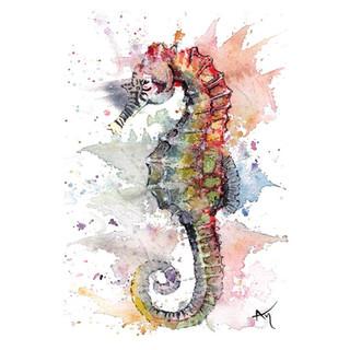 watercolor seahorse art print.JPG