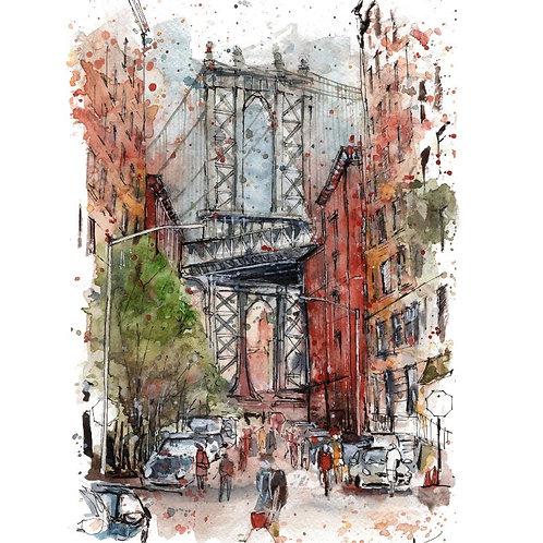 New York - Signed print