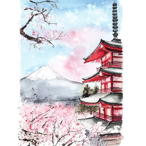 Mt. Fuji - Signed print