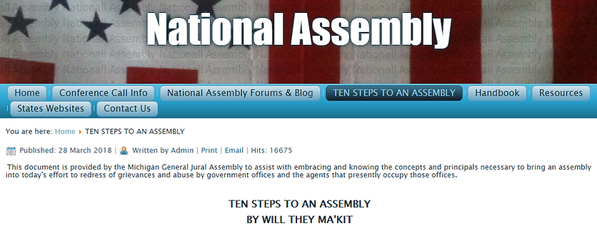 National Assembly Find Your State or Pro