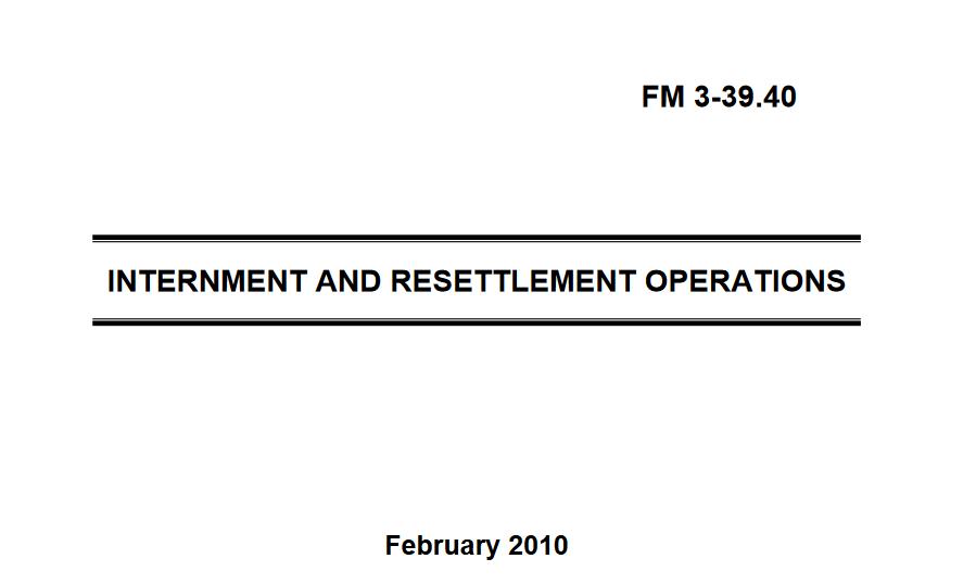 Internment Resettlement