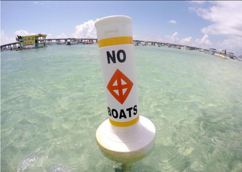 No Boats Safety Corridor