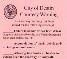 Destin Code Enforcement