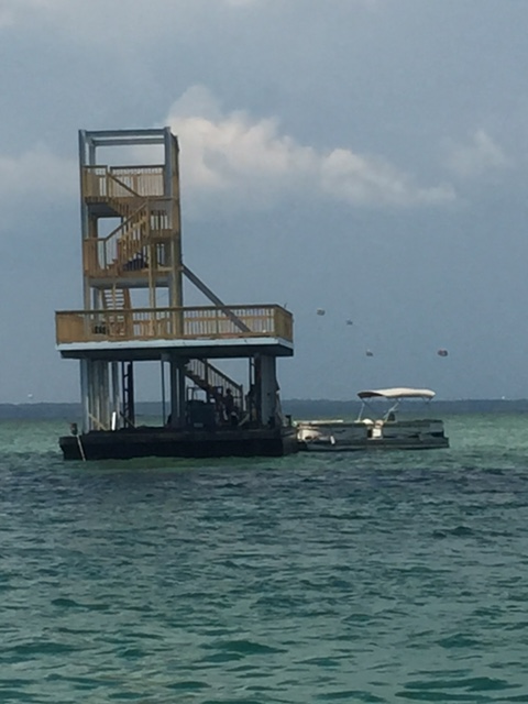Zip Line Barge at Crab Island