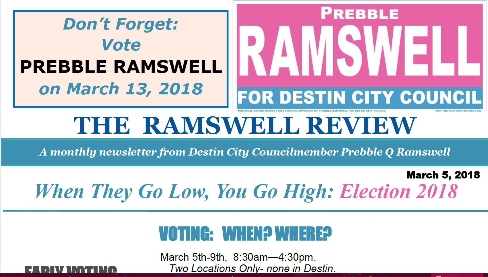 Ramswell Review Masthead