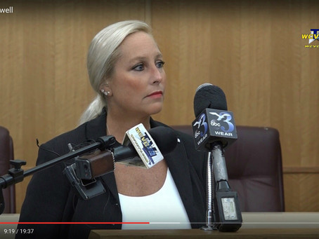 Destin City Council Woman Prebble Ramswell Holds Press Conference Speaks Out on Threats Made to her