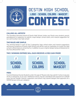 Destin High School, Inc. announces Mascot Contest