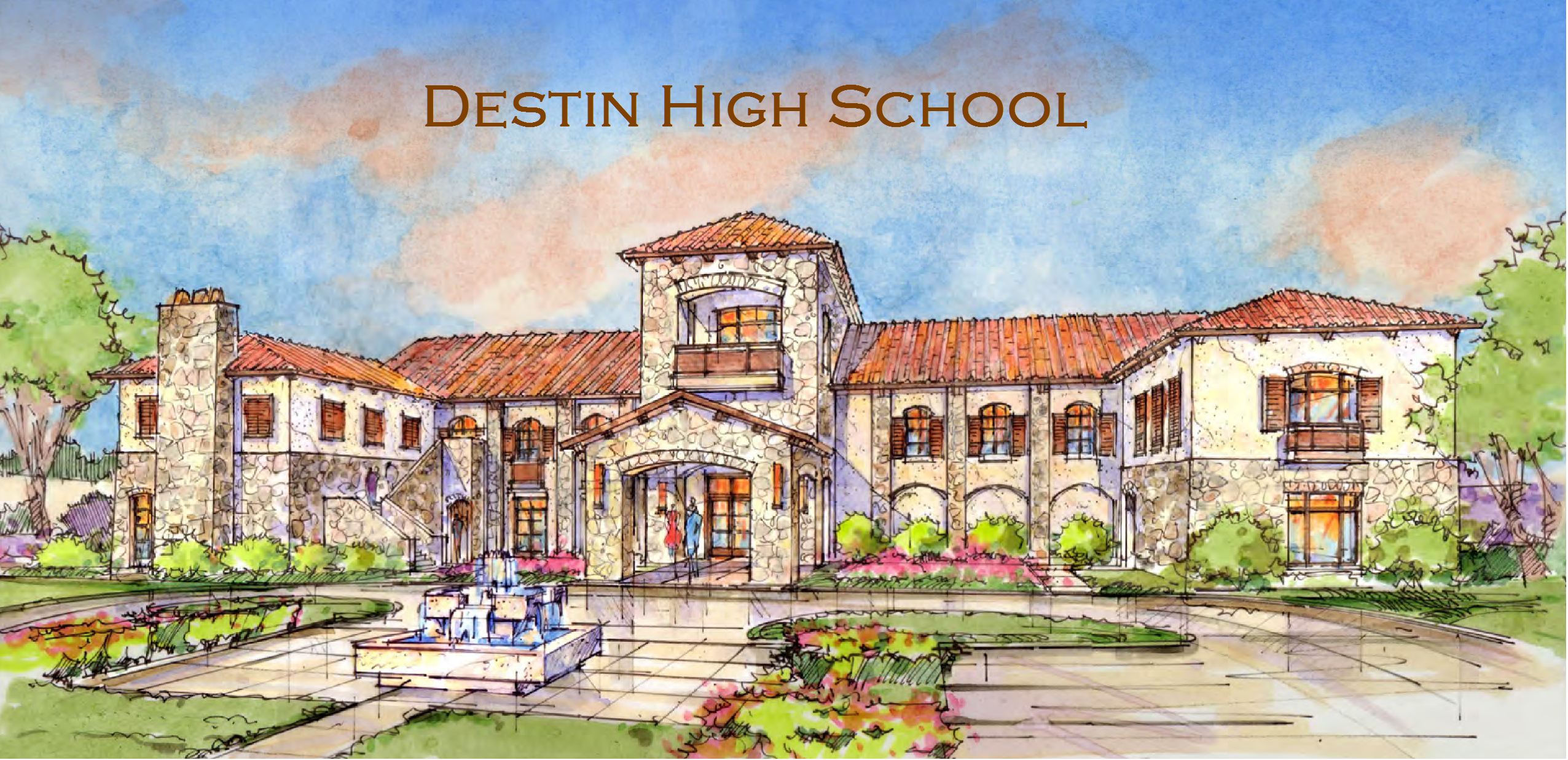 A rendering of future Destin High