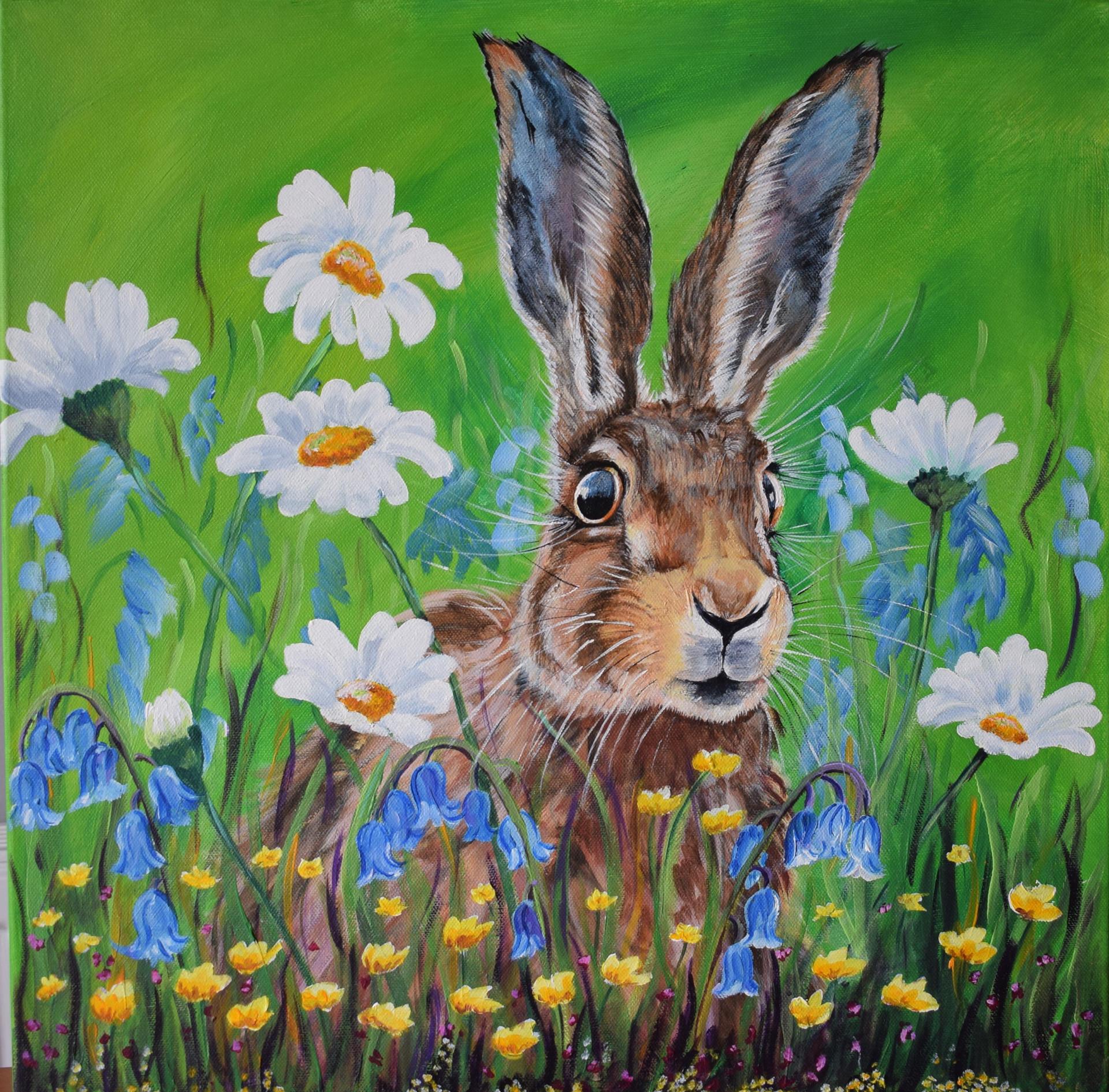 Wild Flower Hare