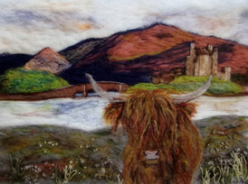Fergus at Eilean Donan Castle