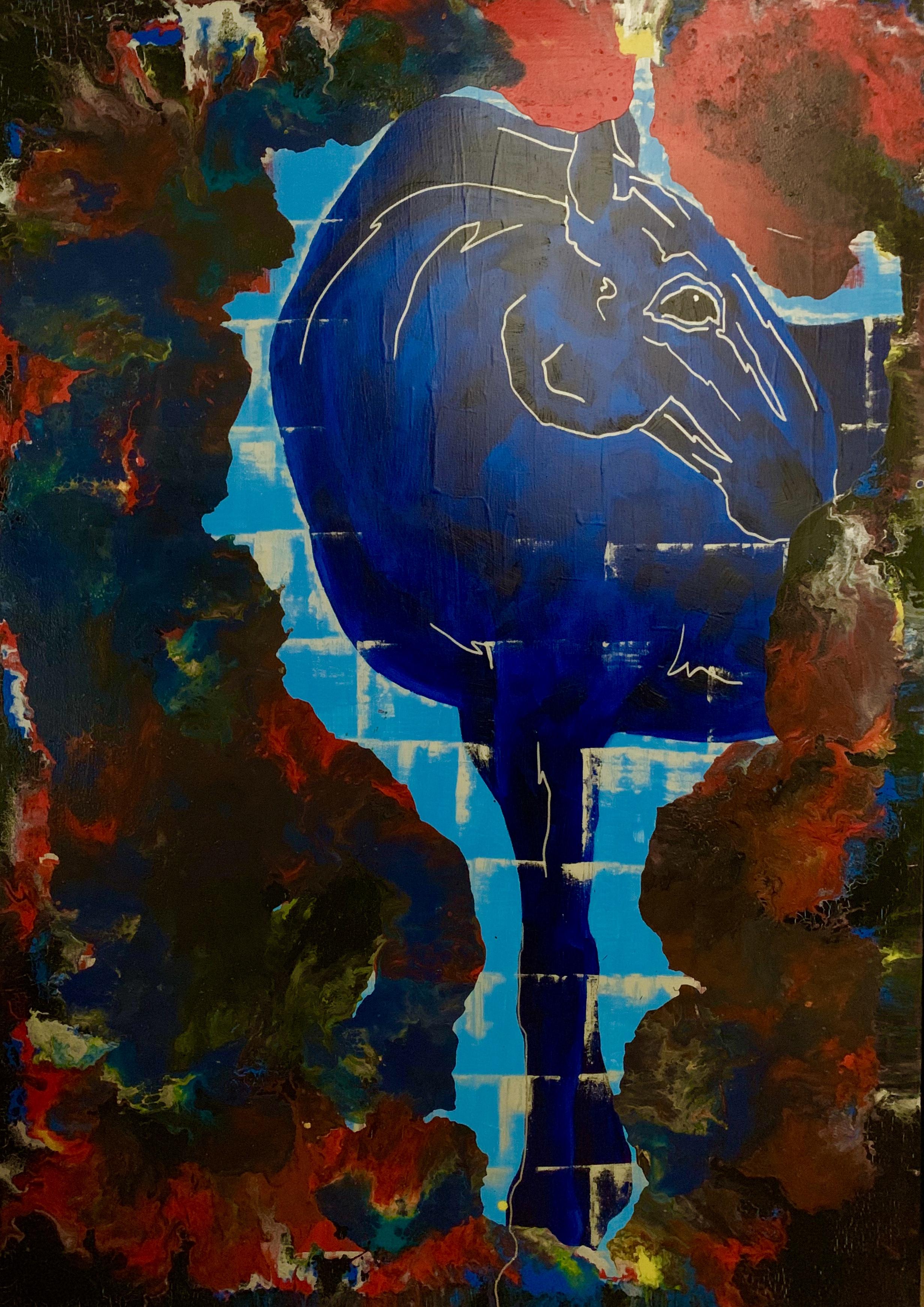 """""""Horse. Palette. Blue"""""""