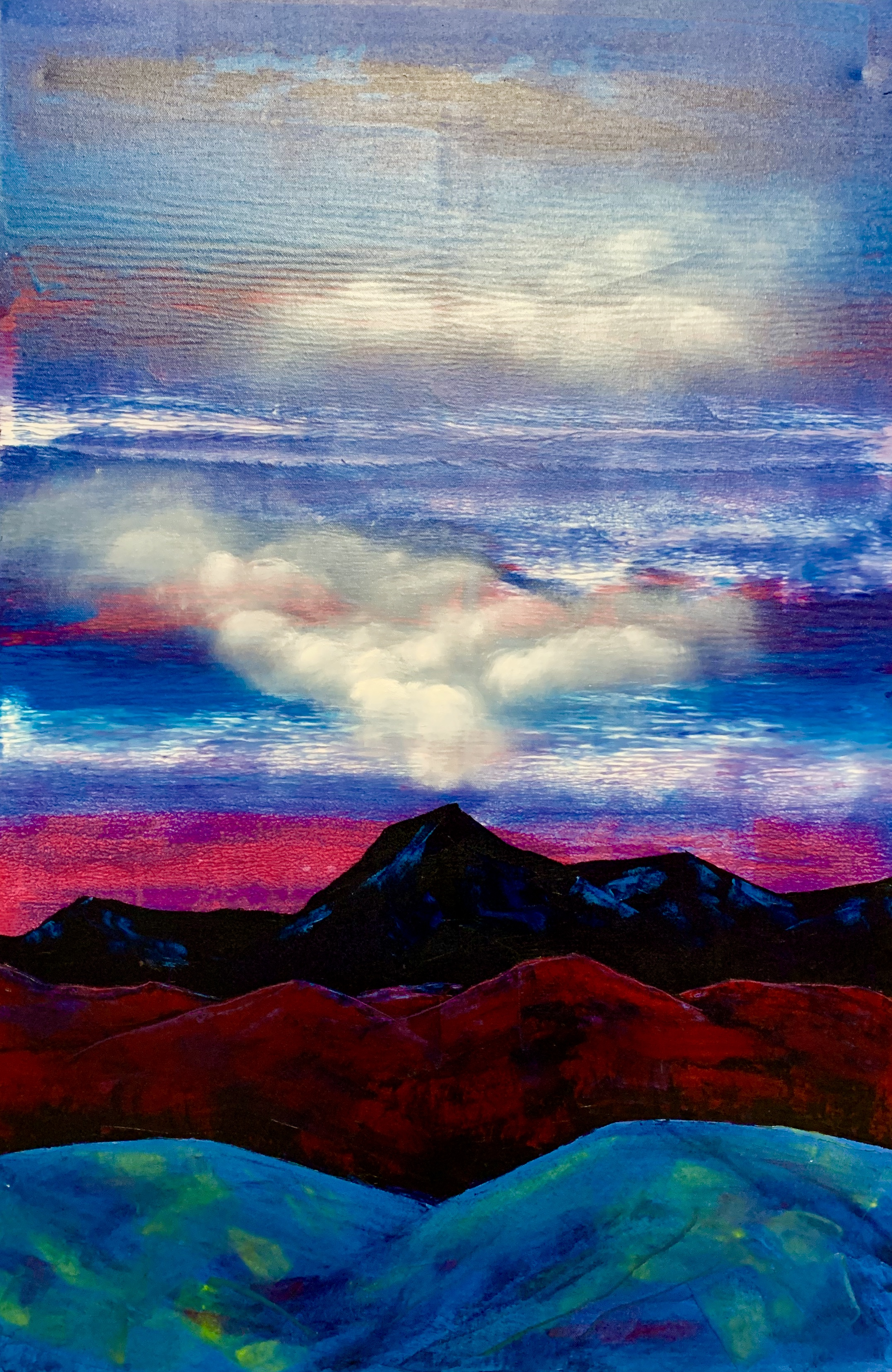 """Mountains. Cloud. Blue 2"""